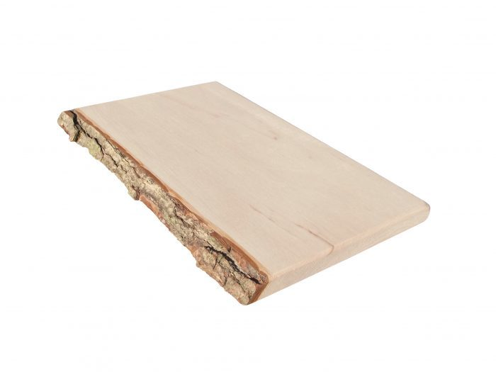 Cutting board with rough bark (one-sided), alder wood