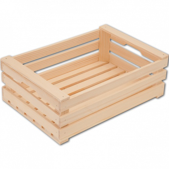 Wooden spruce crate L
