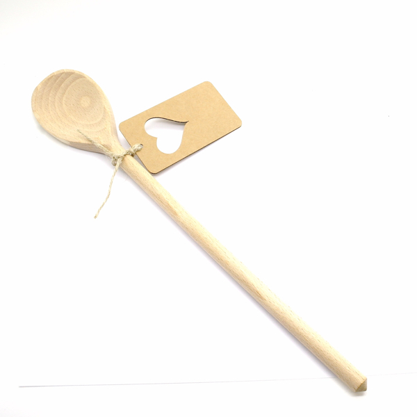 Wooden FSC spoon oval 35 cm